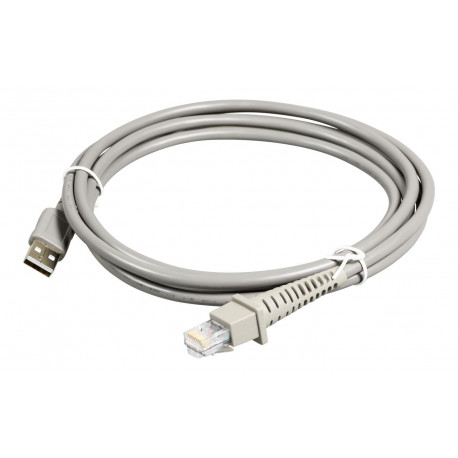 Datalogic 90A052065 USB cable, straight, grey, 2m